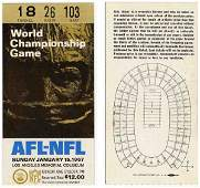 3881: First Super Bowl Ticket AFL NFL Packers Chiefs