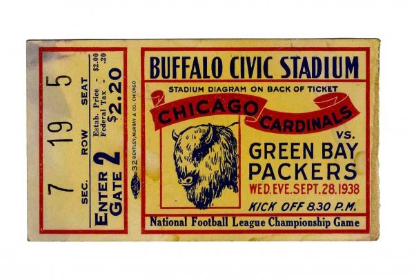 3891: Chicago Cardinals Green Bay Packers NFL Ticket