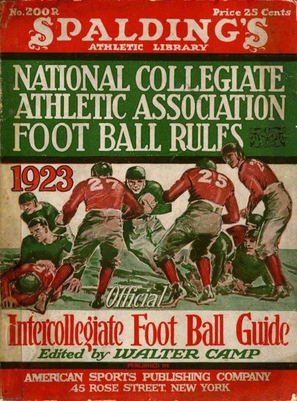 3894: Rare Spalding Athletic Library NCAA Football Rule