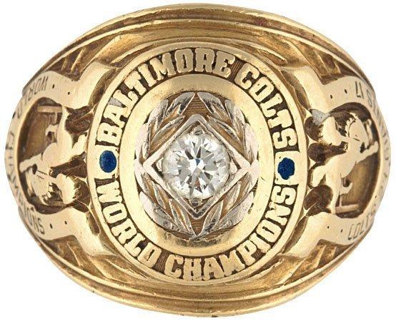3948: Baltimore Colts Championship Ring NFL Football