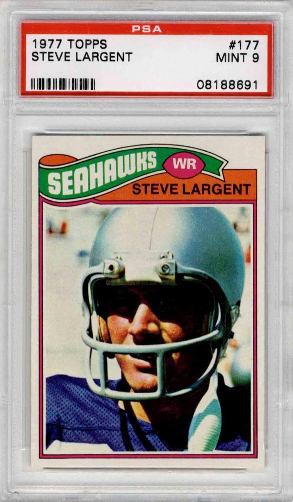 4377: Steve Largent Seattle Seahawks Topps Rookie Card