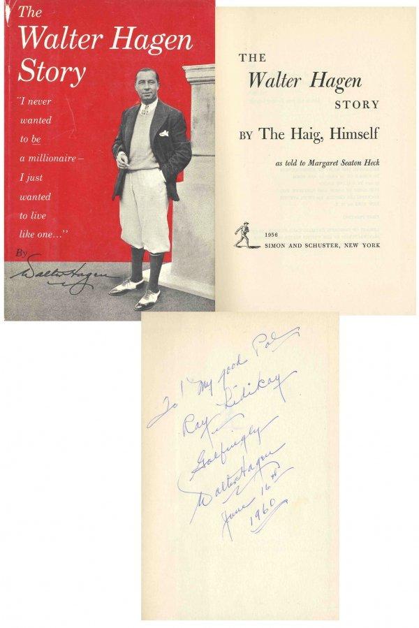 4415: Walter Hagen Signed Walter Hagen Story First Edit