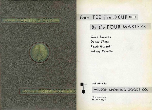 4417: Tee Cup Four Masters Sarazen Shute Guldahl Signed