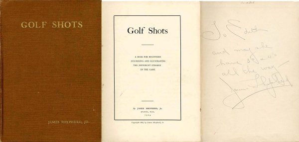 4418: Golf Shots James Shepherd Signed Club Greens