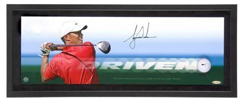 4420: Tiger Woods Signed Driven Golf Ball Player Game P