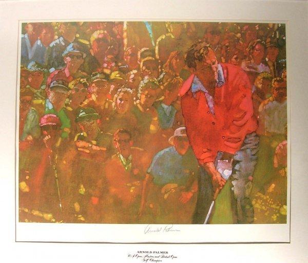 4422: Arnold Palmer Signed Living Legends Lithograph Go