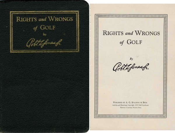 4428: Rights Wrongs Golf Bobby Jones Sports