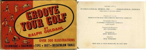 4429: Rare Flip Book Groove Golf Ralph Guldahl Bobby Jo