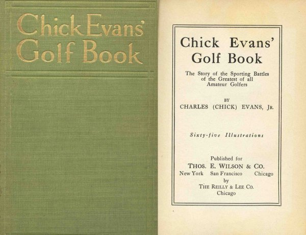 4432: Chick Evans Golf Book PGA Game Player