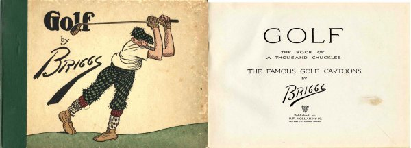 4434: Golf Briggs Clare Rare Cartoons Collection PGA