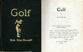 4453: Sports Rare Book Golf Bob MacDonald First Edition