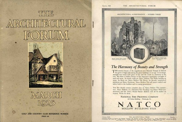 4456: Golf Country Clubs Architectural Forum Rare Book