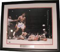 4585: Muhammad Ali Signed Photograph Steiner COA Boxing