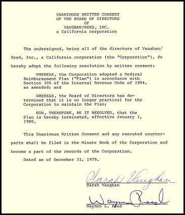 4719 jazz sarah vaughan signed meeting minutes signatu