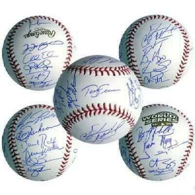 3: Boston Red Sox World Series Baseball Signed MLB 2004