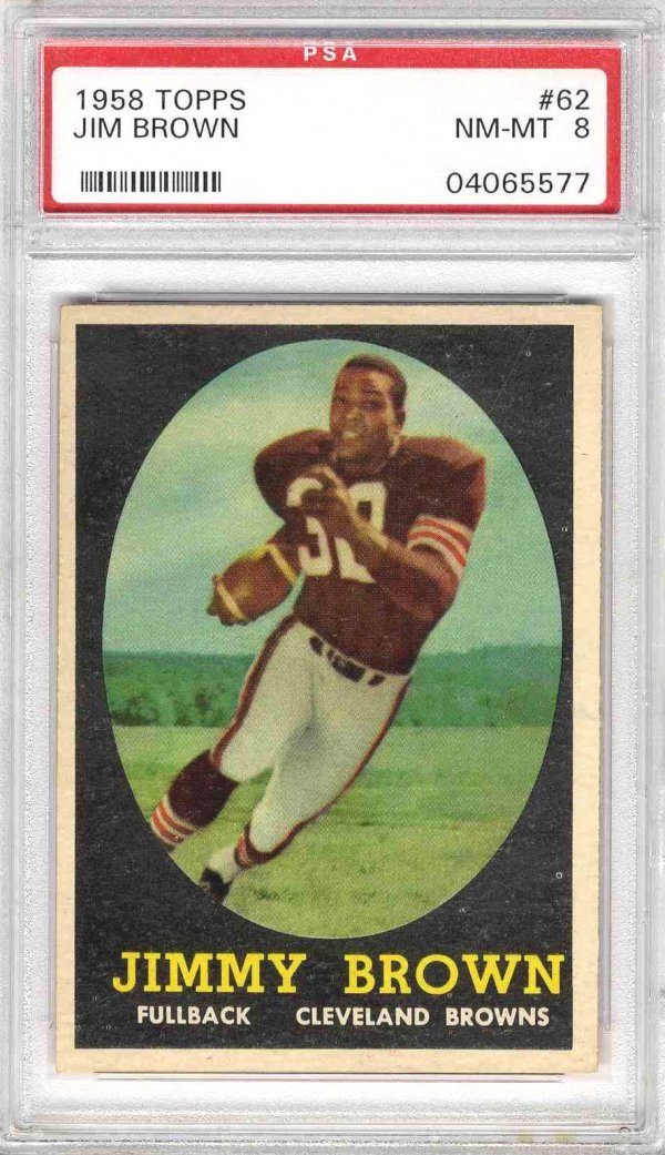 5: Football Card 1958 Jim Brown Topps Rookie PSA 8