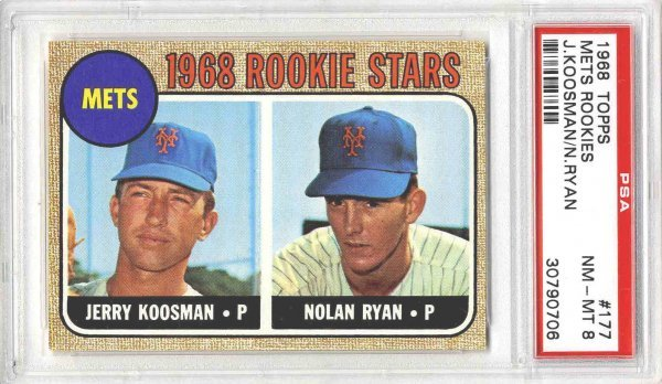 7: Baseball Card Nolan Ryan Rookie 1968 Topps PSA 8
