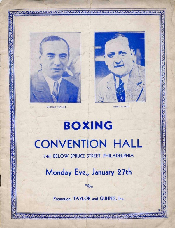 12: Barney Ross Lou Halper Program Boxing Sports 1936 R