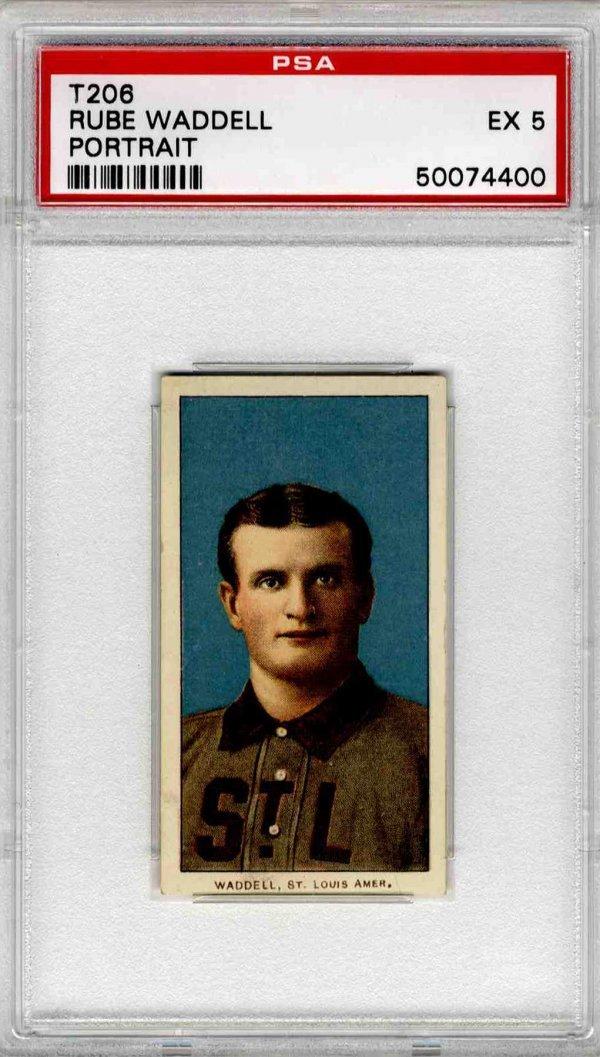 14: Baseball Card Rube Waddell T206 PSA 5 St Louis