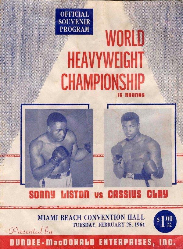 16: Boxing Program Cassius Clay Muhammad Ali Liston 196
