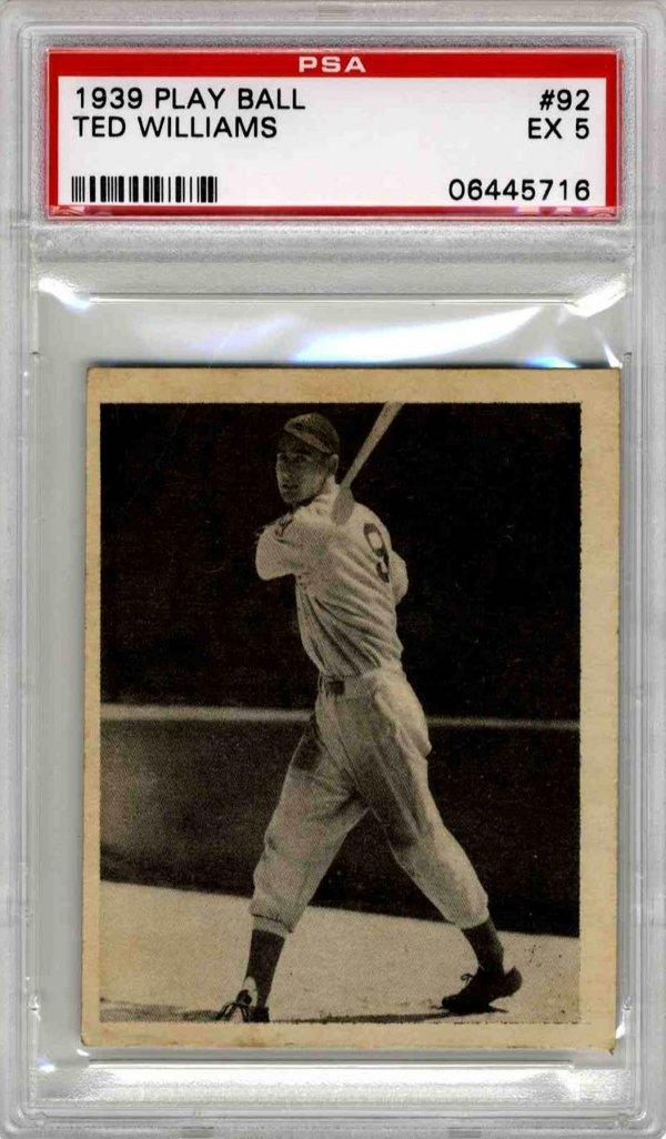 1939 Ted Williams Boston Red Sox Play Ball Card PSA 5