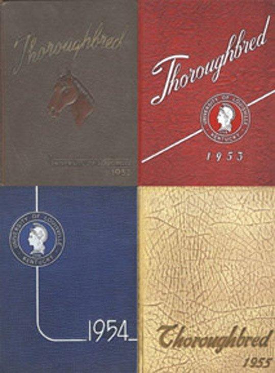 20: Johnny Unitas Set of 4 University Yearbooks Colts