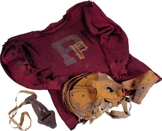 22: Pioneers Jersey Equipment Rare Nose Guard Football