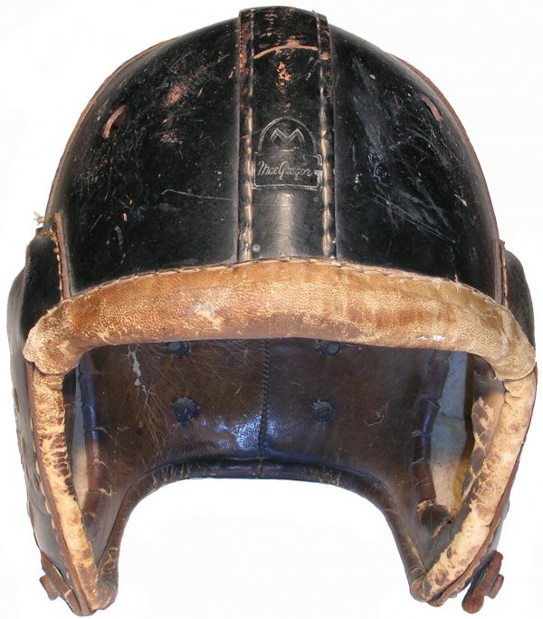 84: Leather Football Helmet MacGregor Vintage NFL