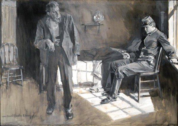 403: Howard Chandler Christy Signed Watercolor Rare Art