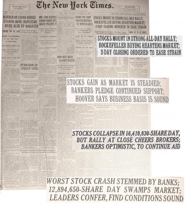 408 Oct 1929 New York Times Full Newspapers Stock Crash