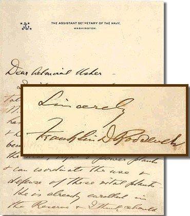 411: Franklin Roosevelt President FDR Signed Letter ALS
