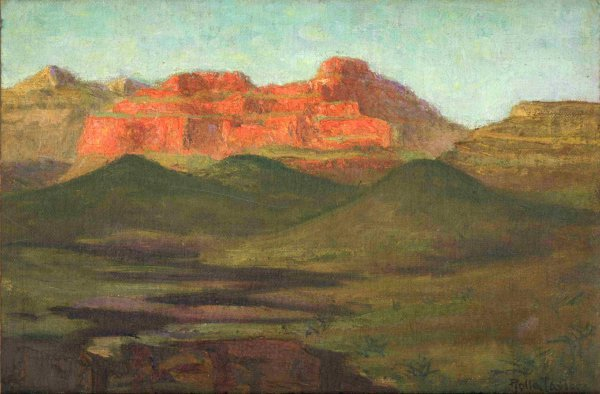413: Painting Rolla Taylor Southwestern Landscape Texas