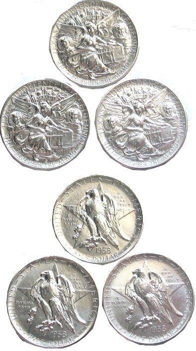 415: Texas Independence Rare 1938 Half Dollar Coin FDR
