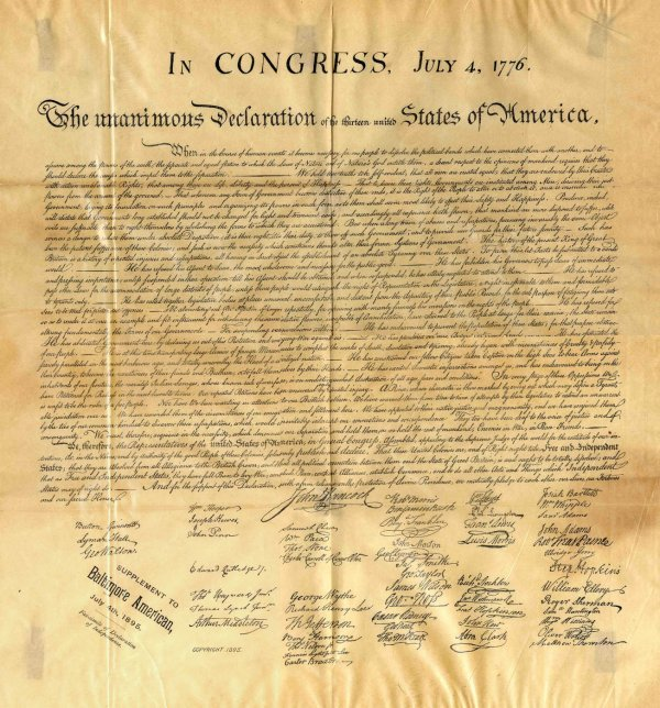 417: Declaration Independence Centennial Print 1895 Rar