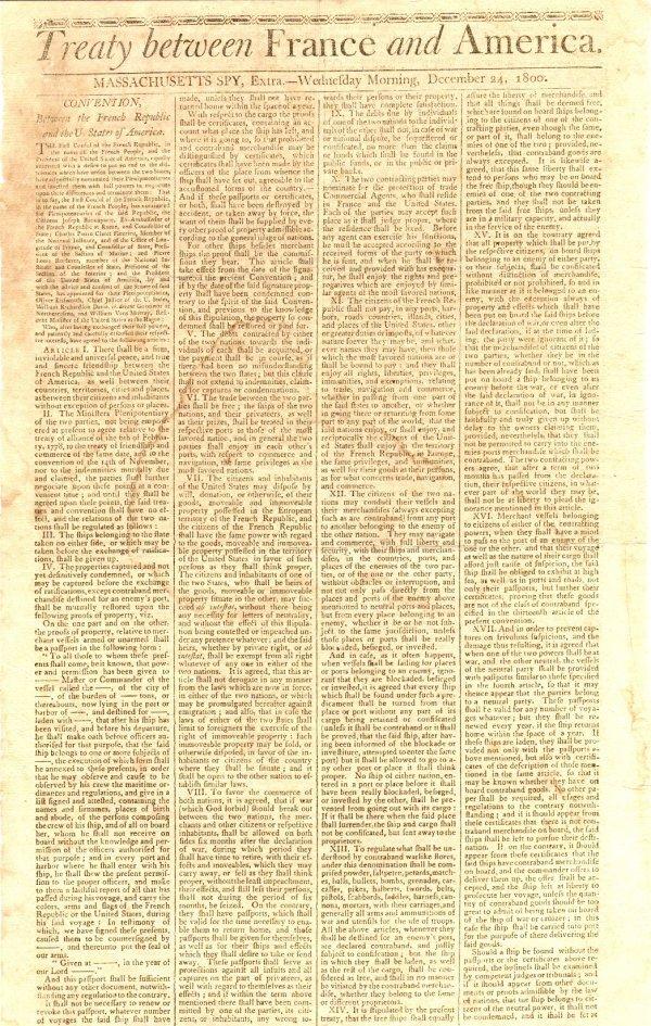 421: Important 1798 Document France America Treaty