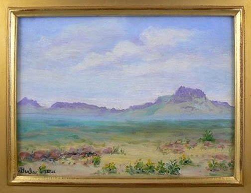 423: Painting Landscape Texas Berla Emeree Franklin Vis