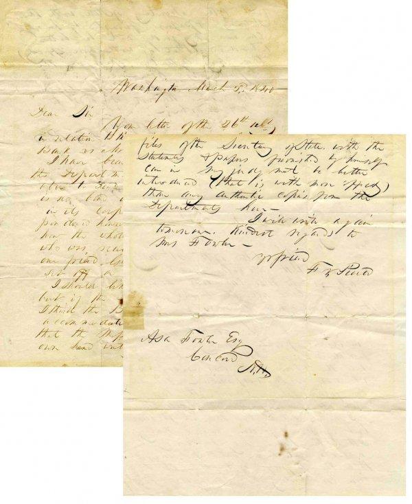 424: Senator President Franklin Pierce ALS Signed 1840