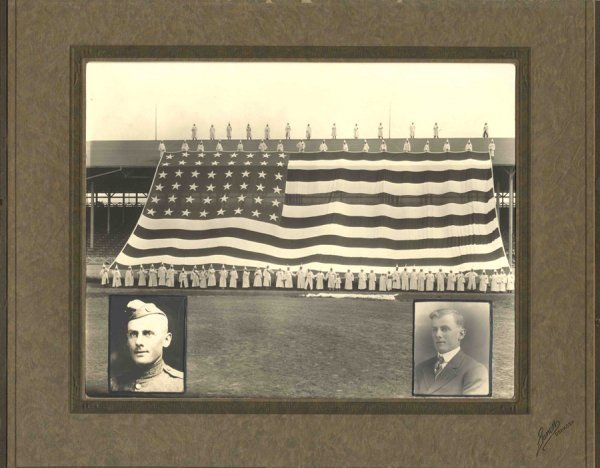 567: Photo Ku Klux Klan US Flag KKK 1925 WI Pic Stadium