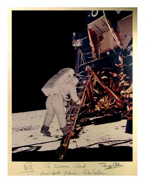 888: Apollo 11 Signed Photo Neil Armstrong Aldrin Colli