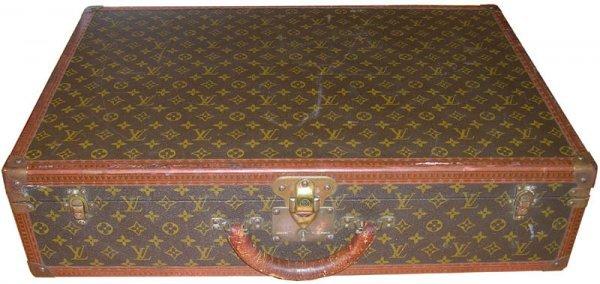 891: Louis Vuitton Alzer Suitcase Luggage Vintage Trave