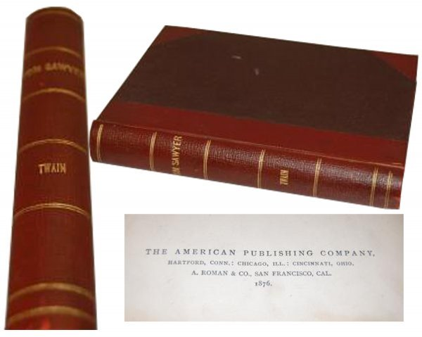 893: Book Tom Sawyer First Edition Mark Twain