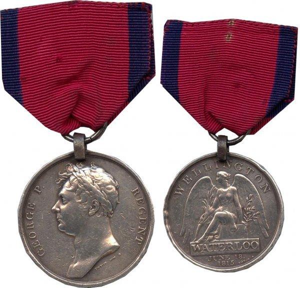 896: Napoleon Waterloo Battle Military Medal 1815