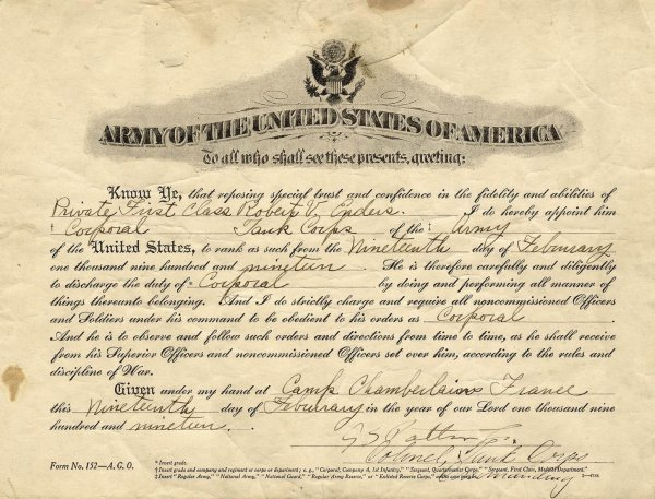 898: George Patton General Signed Document Autograph Ar
