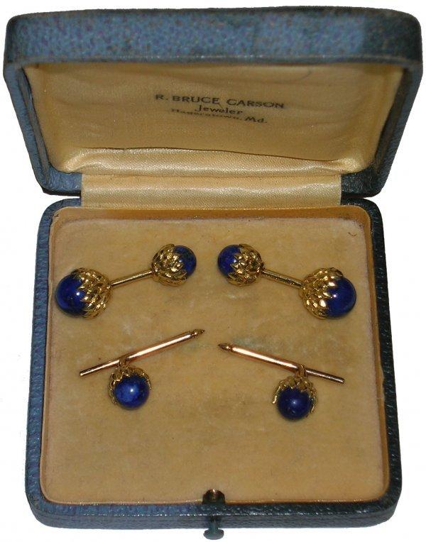 901: Tiffany Cufflinks Acorn Jean Schlumberger Jewelry