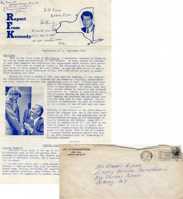 1190: Robert Kennedy Signed Autograph ALS