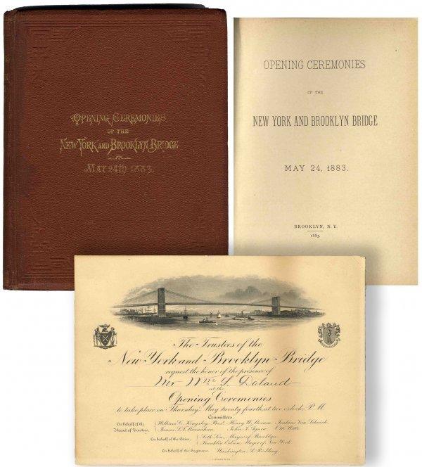 1307 Invitation to Brooklyn Bridge Opening Tiffany 1883