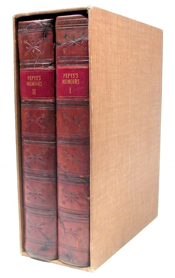 1308: Book Memoirs Samuel Pepys First 1st Edition Diary