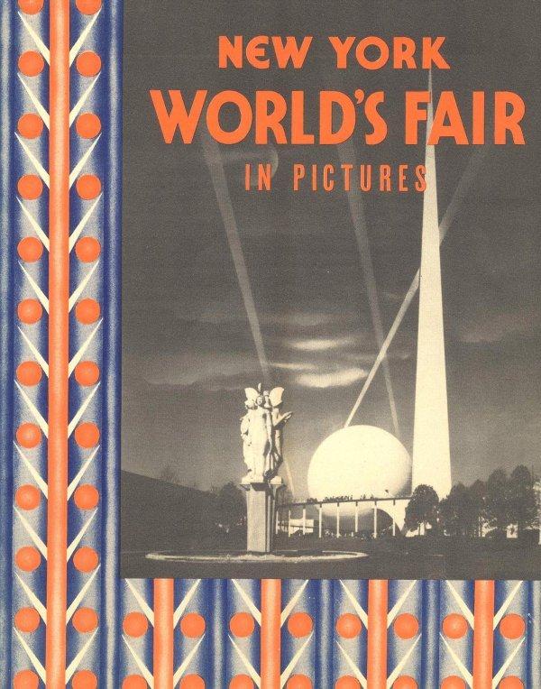 1310: Book New York World Fair Pictures Program 1939 Mo