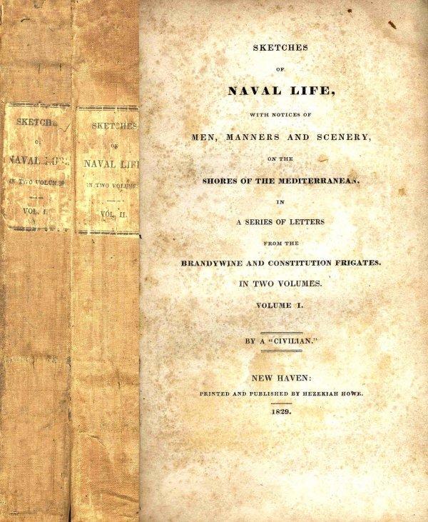 1320: Book Volume Sketches Naval Life George Jones Mili