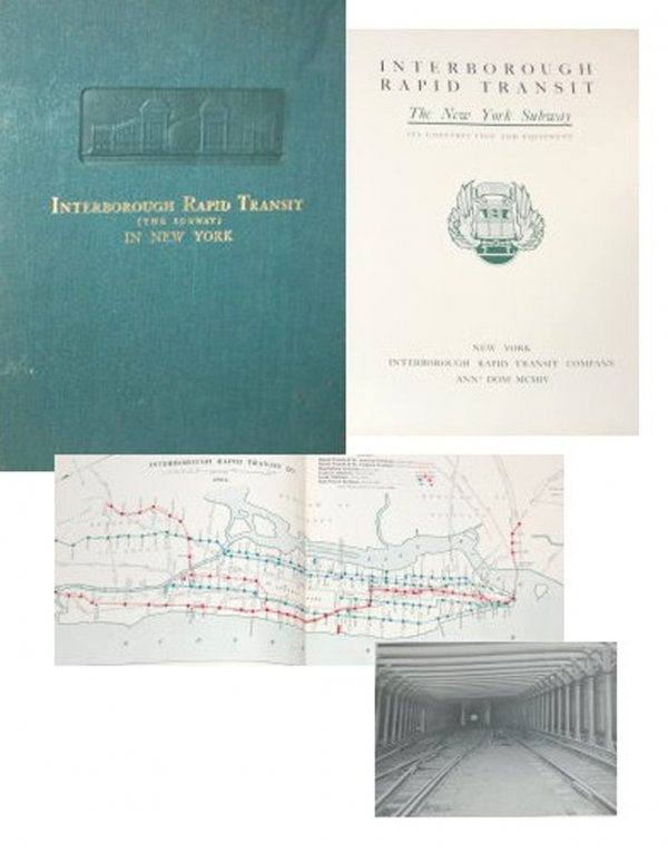 1322: Book Rapid Transit New York Subway First Edition